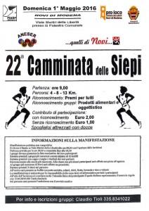 Corsa delle siepi 2016 a Novi di Modena